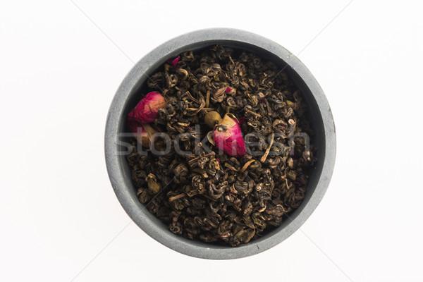 Chinese tea with rose buds Stock photo © joannawnuk