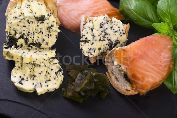 Kruiden boter tuin groene citroen sushi Stockfoto © joannawnuk