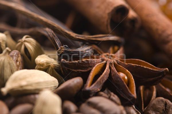 Lezzet kahve malzemeler anason vanilya kahve Stok fotoğraf © joannawnuk