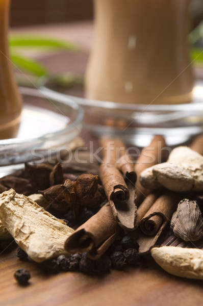 Ital levelek tej fekete indiai wellness Stock fotó © joannawnuk