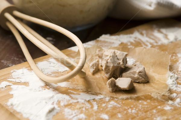дрожжи кухне таблице пшеницы белый Сток-фото © joannawnuk
