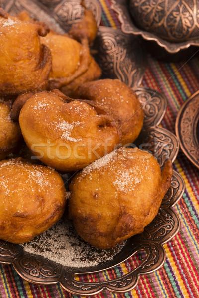 Racuchy - polish doughnut Stock photo © joannawnuk