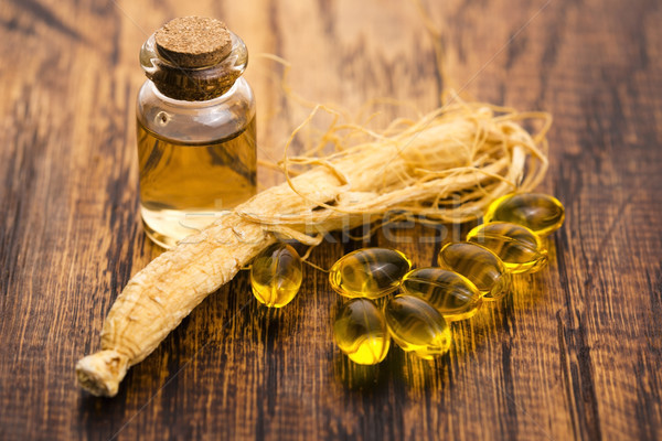 Ginzeng gyógynövény egészség étel orvosi energia Stock fotó © joannawnuk