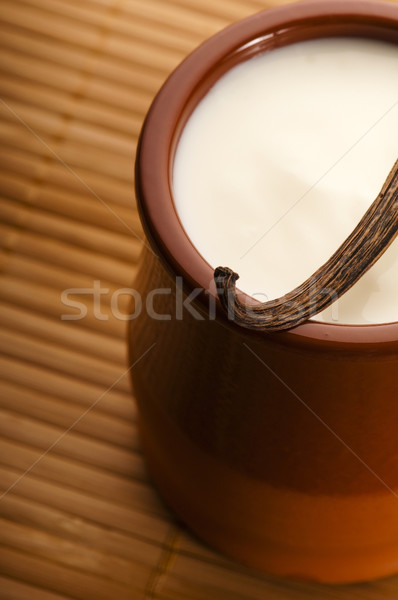 Sweet vanilla pudding dessert  Stock photo © joannawnuk
