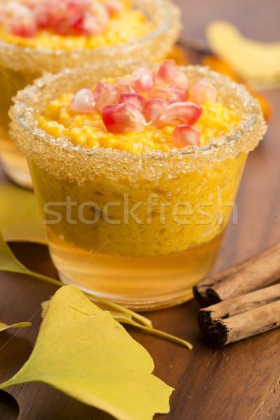 カボチャ プリン 真珠 新鮮な 甘い 食事 ストックフォト © joannawnuk