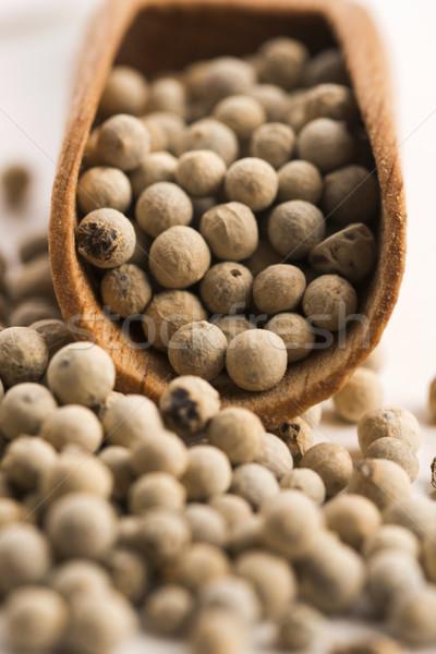 Fehér háttér bors makró magok közelkép Stock fotó © joannawnuk