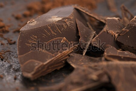 Stock photo: Chopped chocolate