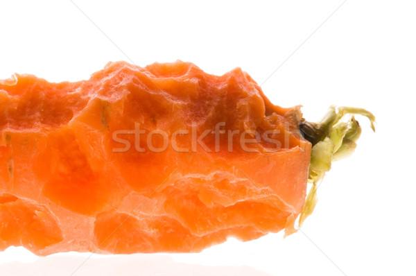 Bite out of a fresh carrot Stock photo © joannawnuk