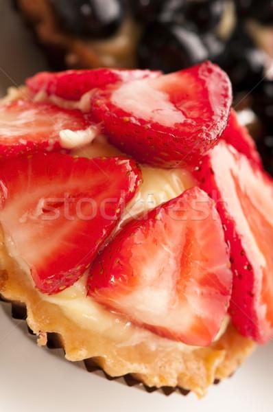 Stok fotoğraf: Kek · taze · meyve · restoran · kırmızı · çilek