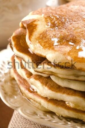 Jarabe placa desayuno taza postre Foto stock © joannawnuk