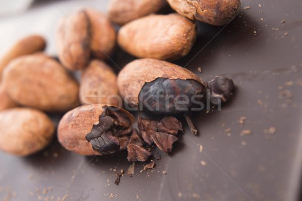 какао бобов молоко шоколадом темный шоколад группа Сток-фото © joannawnuk