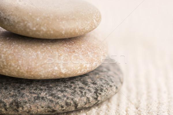 Mini zen jardim abstrato areia pedra Foto stock © joannawnuk