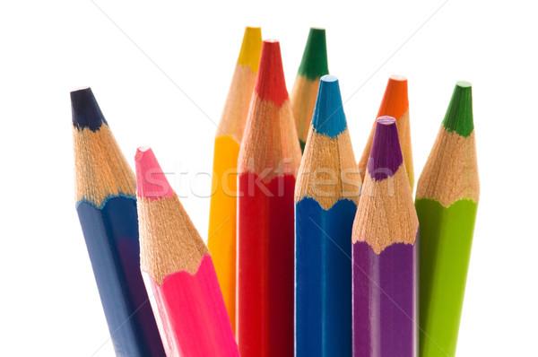 色 鉛筆 子供 学校 ペン 芸術 ストックフォト © joannawnuk