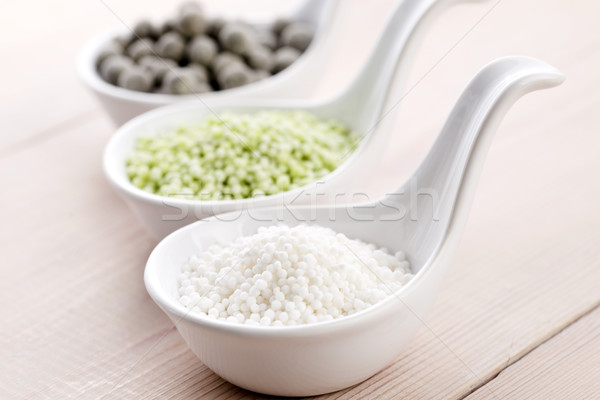 tapioca pearls with lime. white bubble tea ingredients Stock photo © joannawnuk