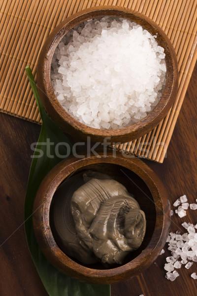 Dode zee modder zout kom medische zee Stockfoto © joannawnuk