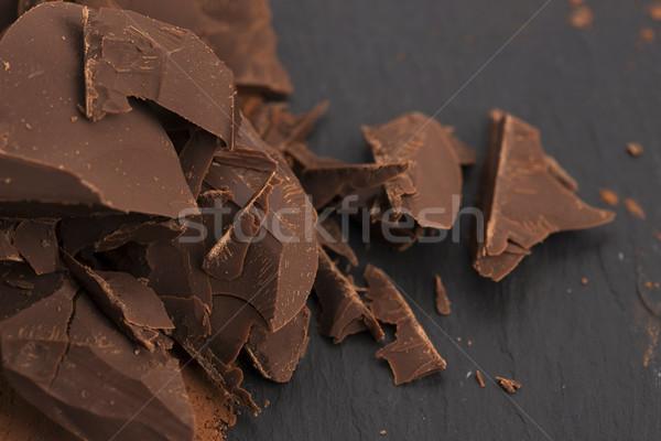 Gehakt chocolade cacao voedsel achtergrond bar Stockfoto © joannawnuk