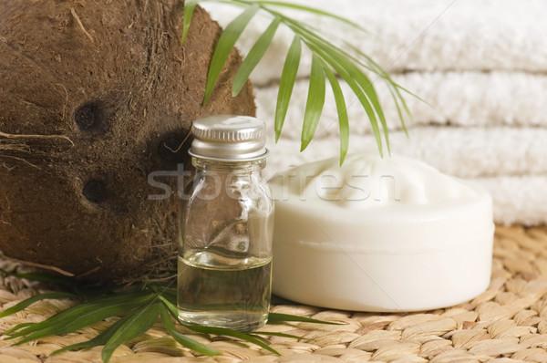 Kokosnuss Öl Alternative Therapie Blume Gesundheit Stock foto © joannawnuk