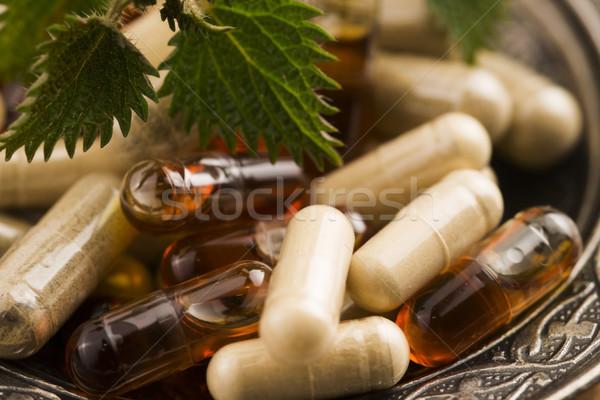 Hapları otlar makro tıbbi arka plan ilaçlar Stok fotoğraf © joannawnuk