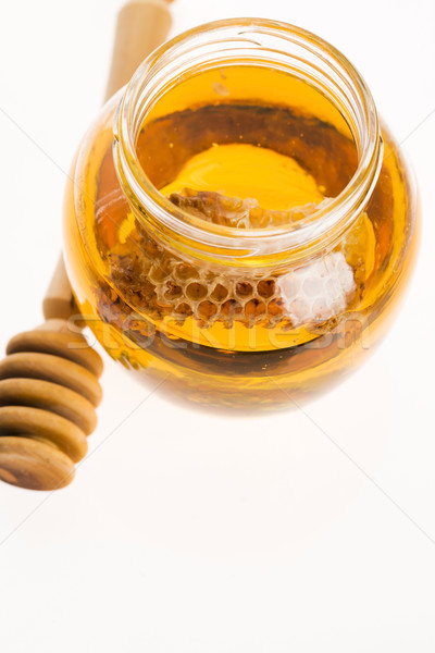 świeże miodu plaster miodu charakter pomarańczowy złota Zdjęcia stock © joannawnuk