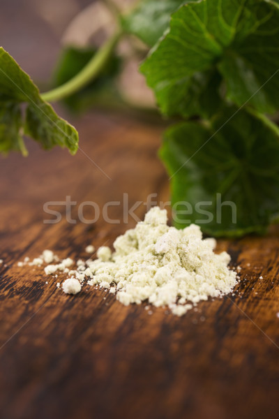 Stock photo: Dry powder Japanese horseradish (wasabi)