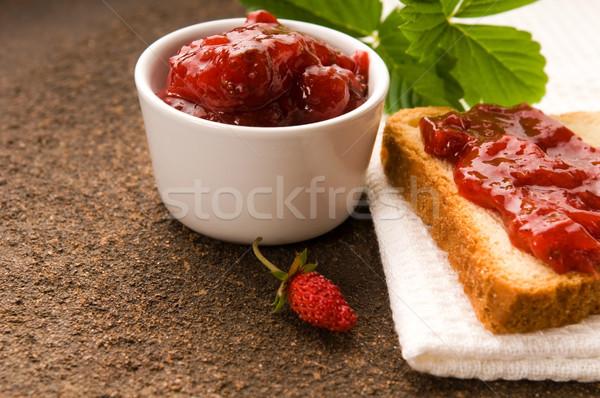 Stock fotó: Vadeper · lekvár · pirítós · étel · gyümölcs · üveg