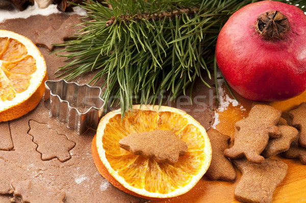 Natal estrela sobremesa celebração doce Foto stock © joannawnuk