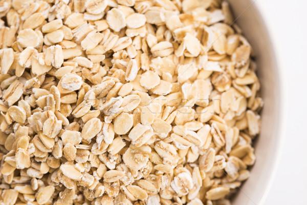 Stockfoto: Haver · kom · natuur · achtergrond · ontbijt