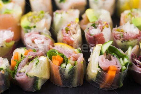 日本語 サラダ ロール 魚 健康 アジア ストックフォト © joannawnuk