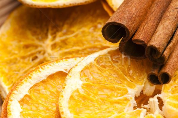 Stock fotó: Aszalt · narancs · fahéj · karácsony · dekoráció · gyümölcs