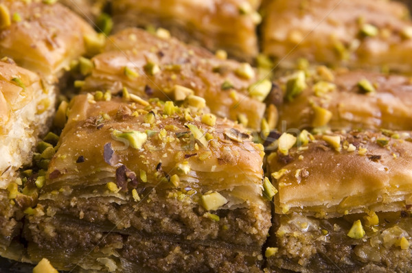 Baklava. Traditional middle east sweet desert isolated on the wh Stock photo © joannawnuk