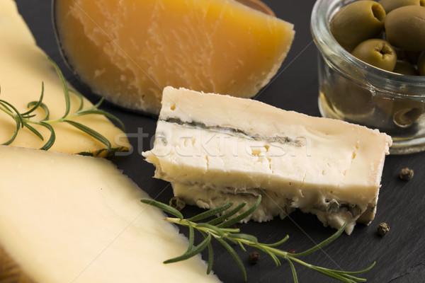 Various types of cheese Stock photo © joannawnuk