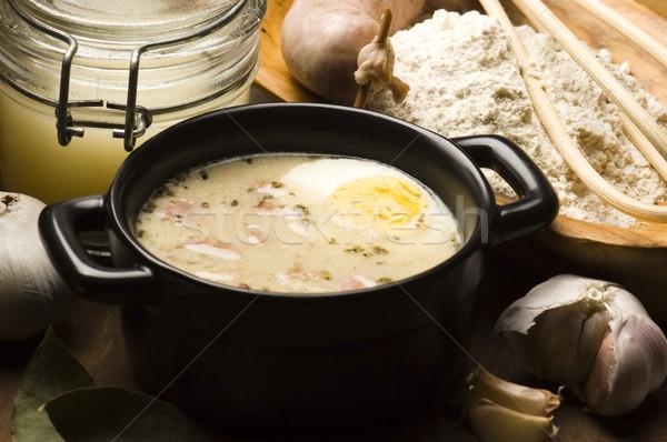 Traditional Polish White Borscht For Easter  Stock photo © joannawnuk
