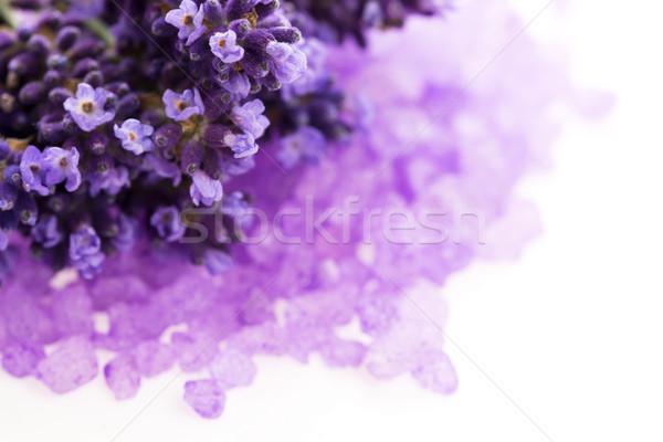 Levendula virágok fürdősó szépségápolás virág test Stock fotó © joannawnuk