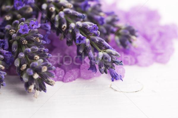 Levendula fürdősó friss virág természet test Stock fotó © joannawnuk