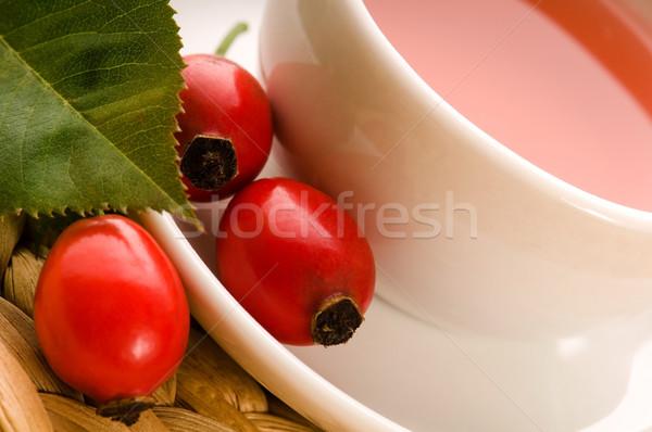 Rosa anca tè cane frutta sfondo Foto d'archivio © joannawnuk
