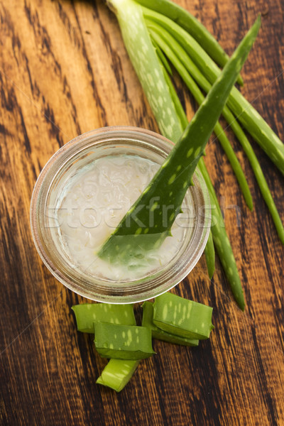 アロエ ジュース 新鮮な 葉 自然 健康 ストックフォト © joannawnuk