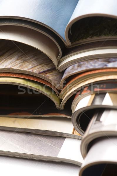 Tijdschriften nieuws onderwijs print foto Stockfoto © joannawnuk