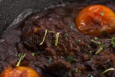Polpo salsa di pomodoro studio mangiare olive shot Foto d'archivio © joannawnuk