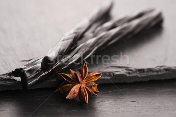 Doce estrela anis fundo preto branco Foto stock © joannawnuk