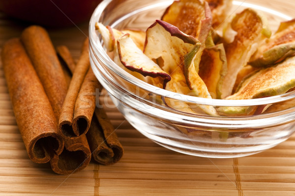 Dried apples with cinnamon Stock photo © joannawnuk