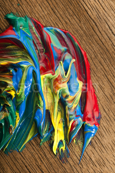 Stock photo: mixing paints. background