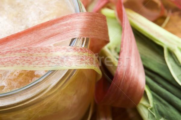 Ravent reçel cam kavanoz gıda plaka Stok fotoğraf © joannawnuk