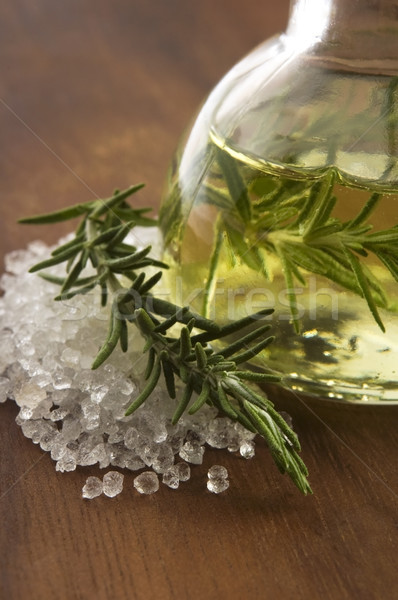 Essential Oil with rosemary and sea salt Stock photo © joannawnuk