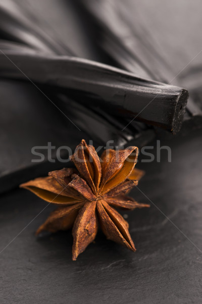 Licorice candy with star anise Stock photo © joannawnuk