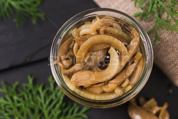 Marinato miele alimentare forcella bordo Foto d'archivio © joannawnuk