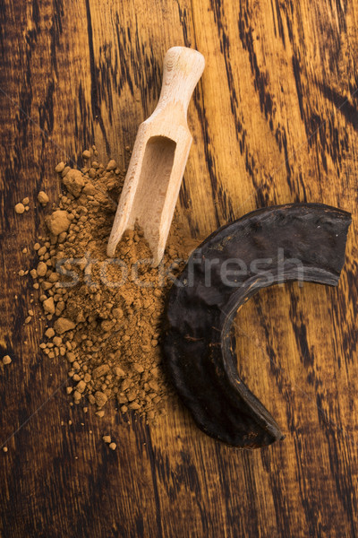 carob pods and carob powder Stock photo © joannawnuk