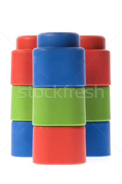 stack of colorful building blocks - no trademarks Stock photo © joannawnuk