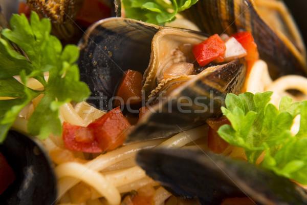 Domates sosu gıda yağ tahta ülke stil Stok fotoğraf © joannawnuk