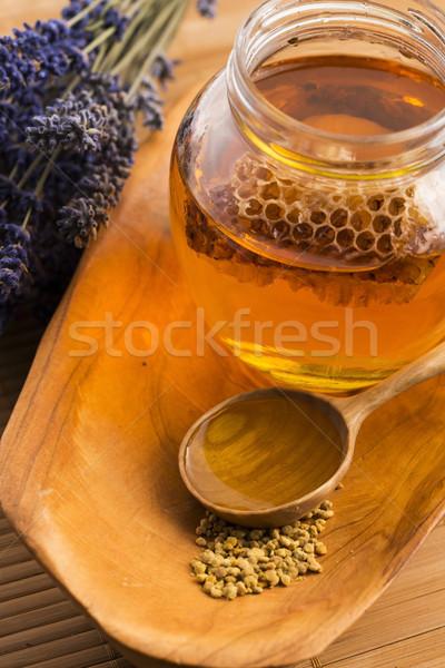 лаванды пчелиного меда пыльца меда древесины Сток-фото © joannawnuk
