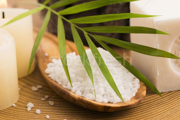 海塩 石鹸 キャンドル スパ ボディ 海 ストックフォト © joannawnuk